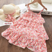 Load image into Gallery viewer, Girls Dresses Summer with Hat - Junitas Online Store