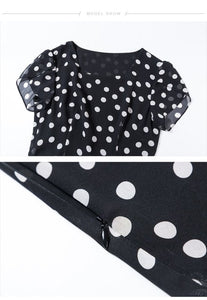 Polka Dot Dress Short Sleeve - Junitas Online Store