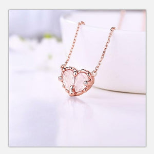 925 silver heart-shaped topaz - Junitas Online Store