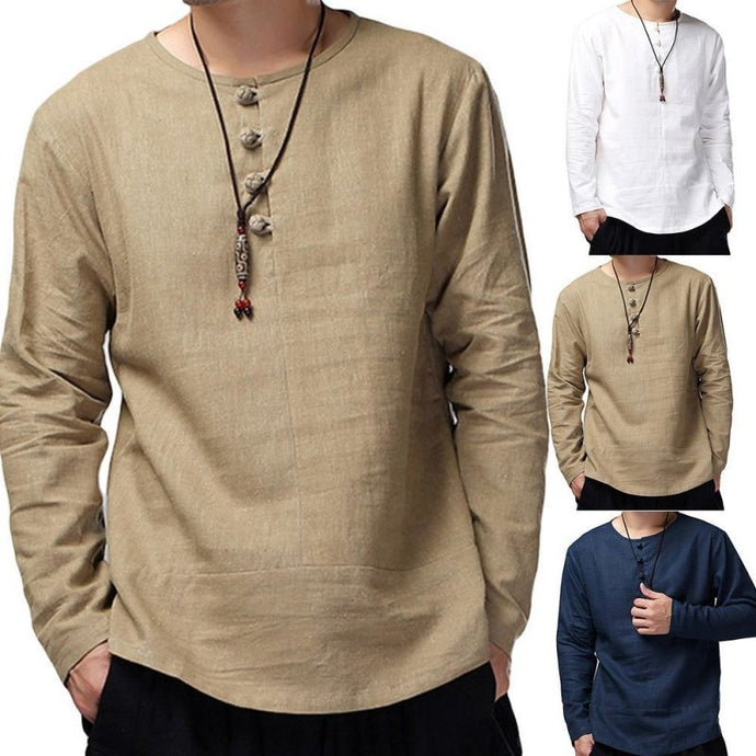Solid Color Long Sleeve Pullover Shirt - Junitas Online Store