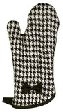Black and White Woven Houndstooth Oven Mitt