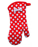 Red and White Oven Mitt