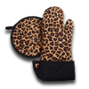 Leopard Pot Holder and Oven Mitt Set