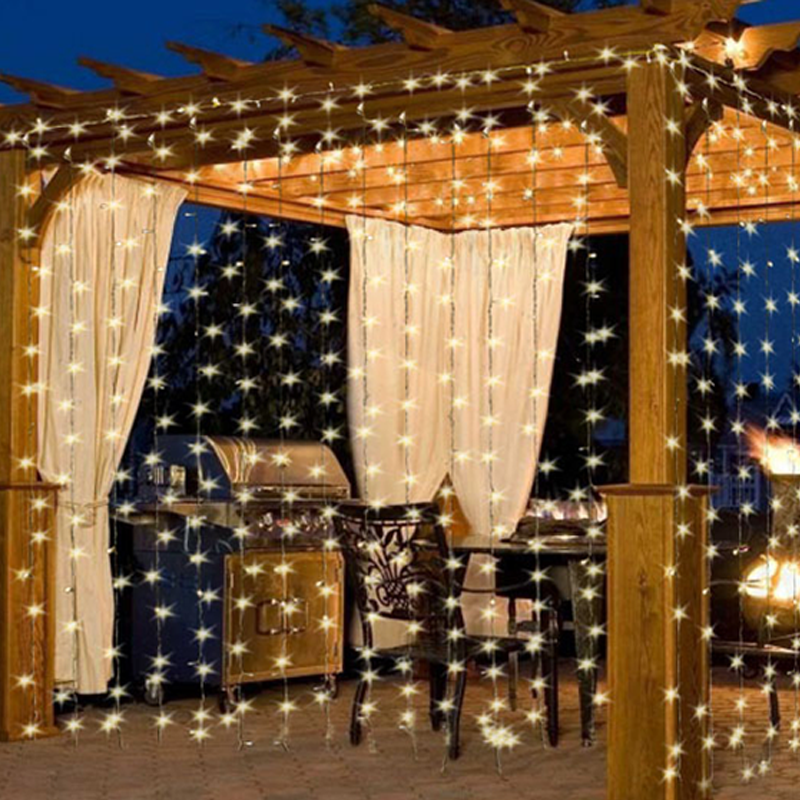 10Ft. 300-LED Warm White String Curtain Light