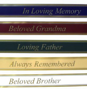 Customize your gift by adding a beautiful ribbon to your sympathy piece. Chose from several different options. A ribbon can be placed on sympathy baskets, standing sprays and casket sprays