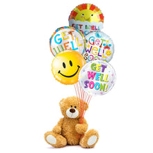 Balloons, mylars, get well, teddy bear