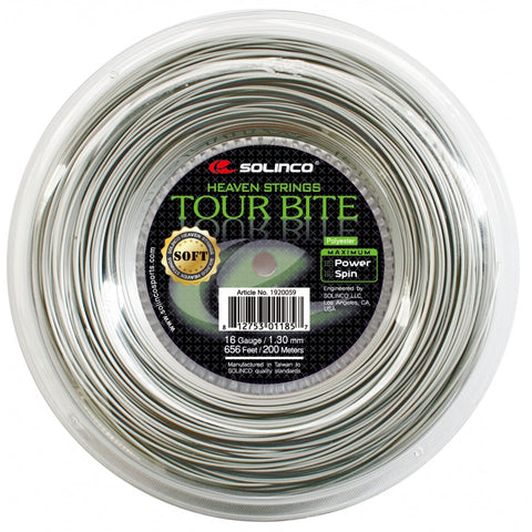 Solinco Tour Bite Soft 200m     + 15 GRATIS WONDERGRIPS