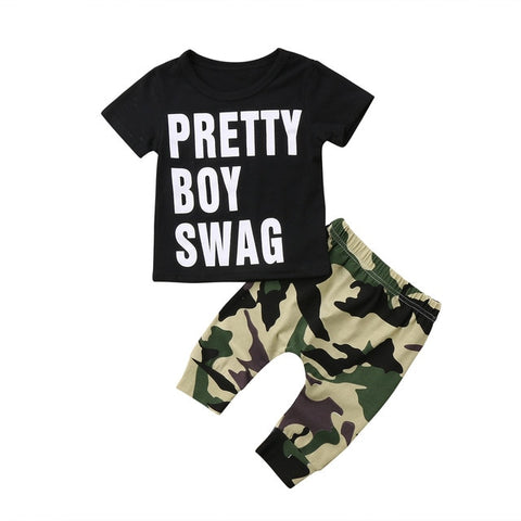 Cool Baby Boy Short Pretty Boy Swag Set