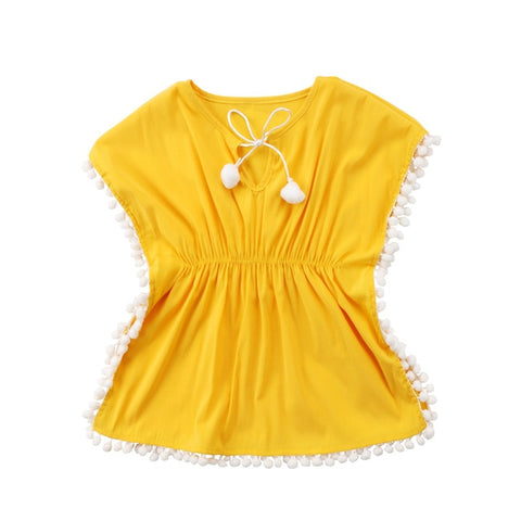 Adorable Baby Girls Tassel Fringe Sundress