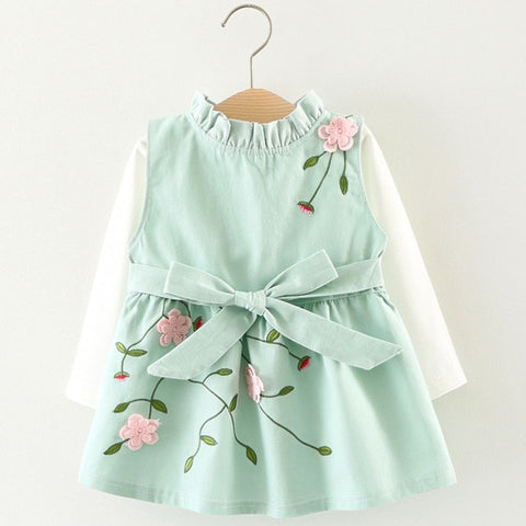 Adorable Spring Girl Floral Dress