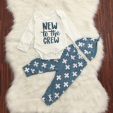 New To The Crew Baby Boy Long Sleeve Outfit
