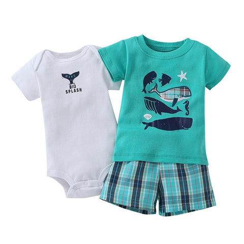 Adorable Baby Boy Summer 3PCS Summer Set