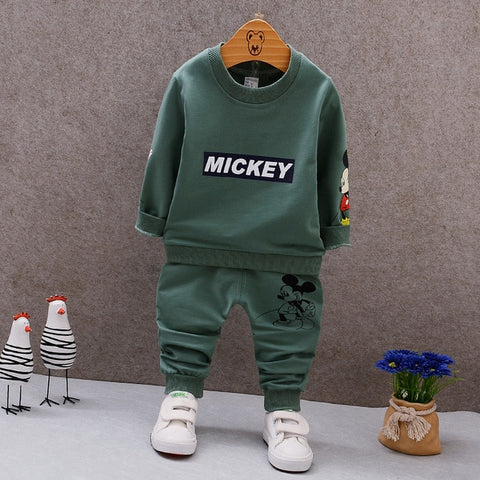 Adore My Baby Boy Mickey Cartoon Sweat Suit