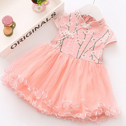 Adorable Baby Girl Oriental Party Dress