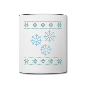 Snowflake Mug - white/black