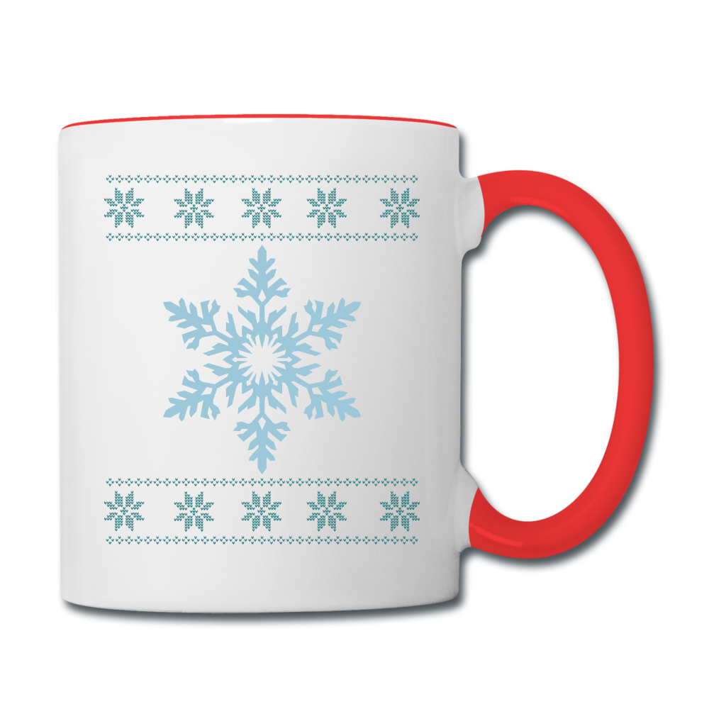 Snowflake Mug - white/red