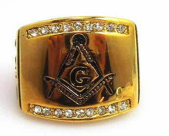 Where to locate the modest masonic rings?