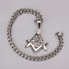 Crystal Masonic Necklaces Bling Compass Gold/Silver