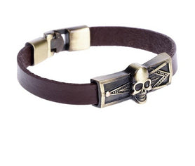 Masonic Bracelet Leather Skull