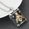 Masonic Pendant Necklace With Bead Chain