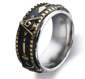 Masonic Ring Silver Gold