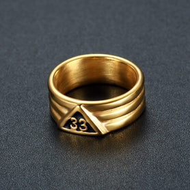 Masonic 33 Degree Ring Gold/Silver