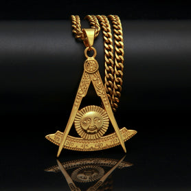 Past Master Necklace With Square Masonic