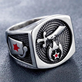 Masonic Ring Shriner Silver
