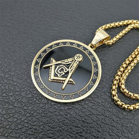 Masonic Symbol Necklace
