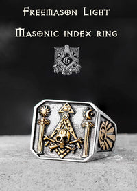 Masonic Ring Omniscient Eye and Totem