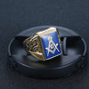 Masonic Gold Blue Ring