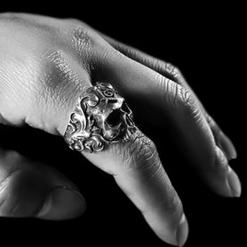 Masonic Vine Skull Ring