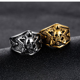 Masonic Gold Silver Rings Skulls
