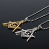 Masonic Square and Compasses Necklace