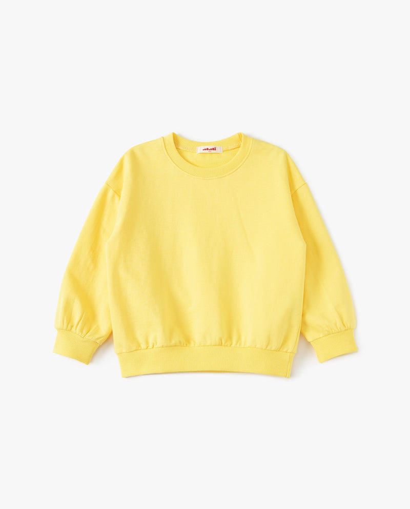 Supima Cotton Crewneck Sweatshirt Yellow
