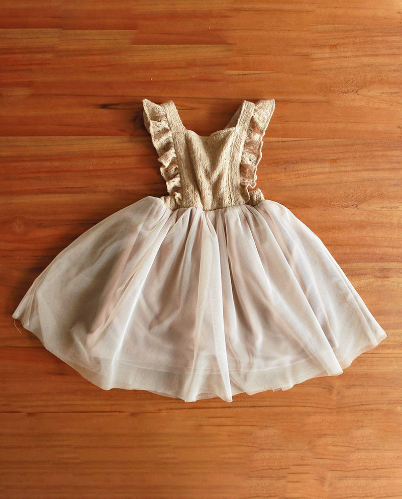 [Out of Stock] Ruffled Straps Jumper Dress
