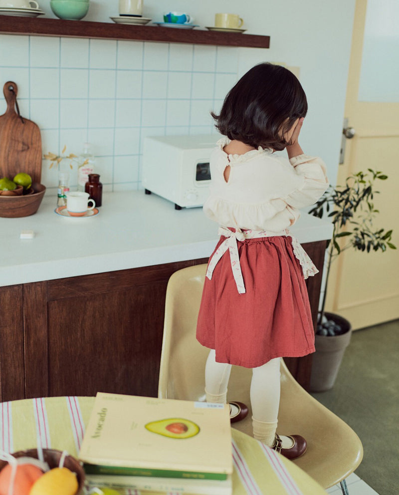 [Out of Stock] Floral Apron Patched Skirt
