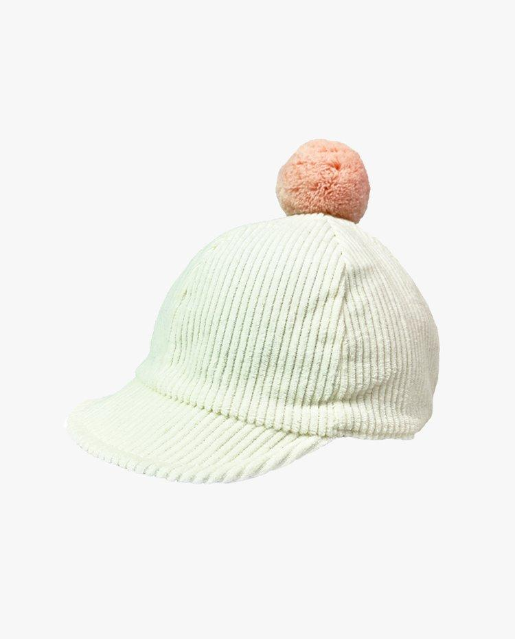 [Out of Stock]Reversible Corduroy Winter Cap (Ivory)