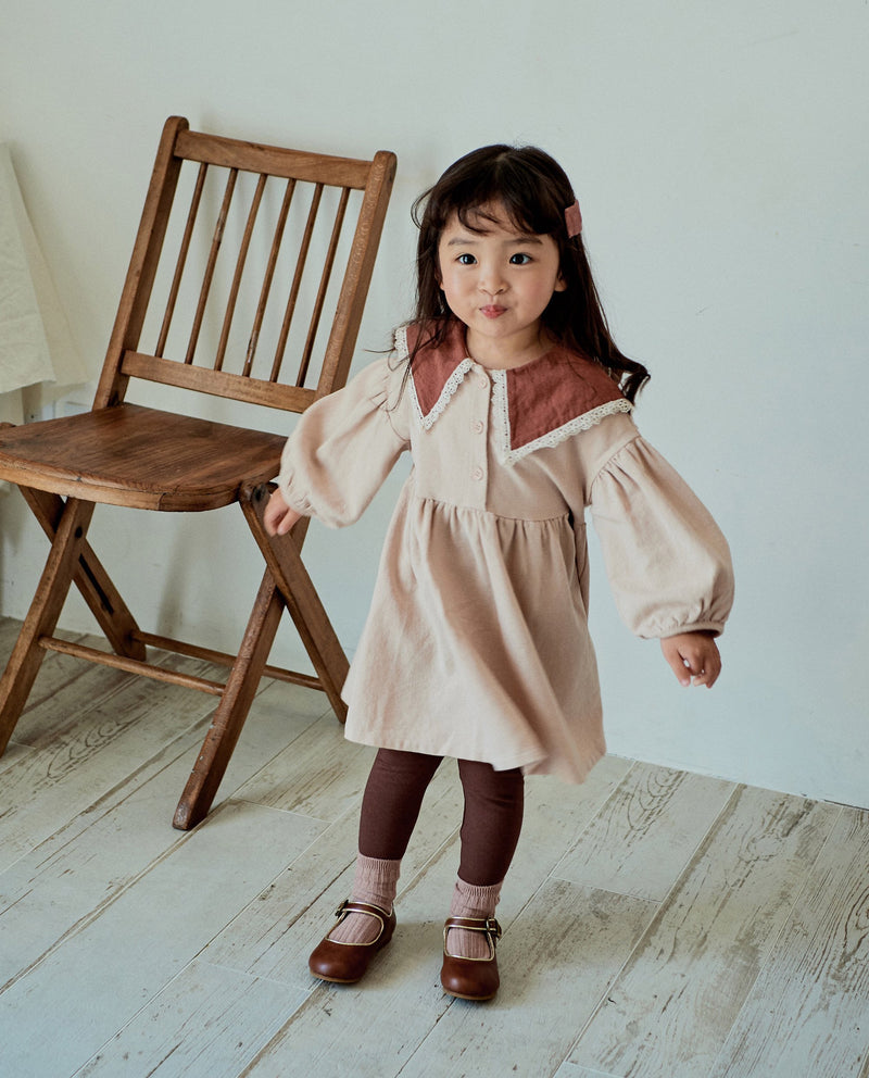 [Out of Stock] Simple Puritan Collared Dress