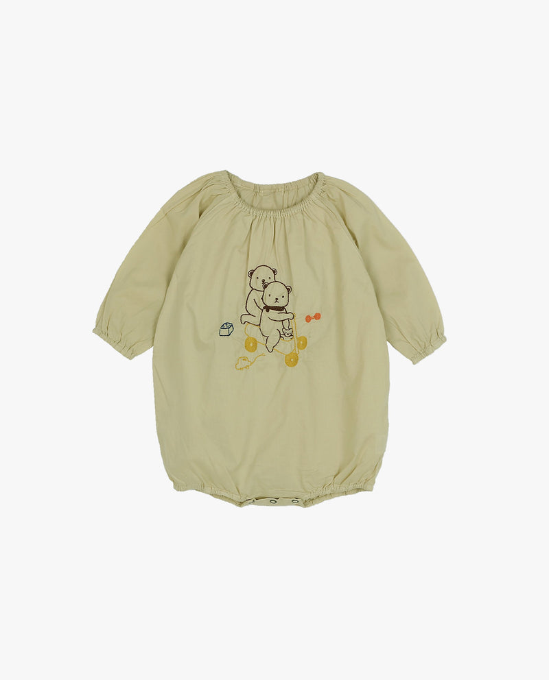 [Out of Stock] Bear Embroidery Bodysuit