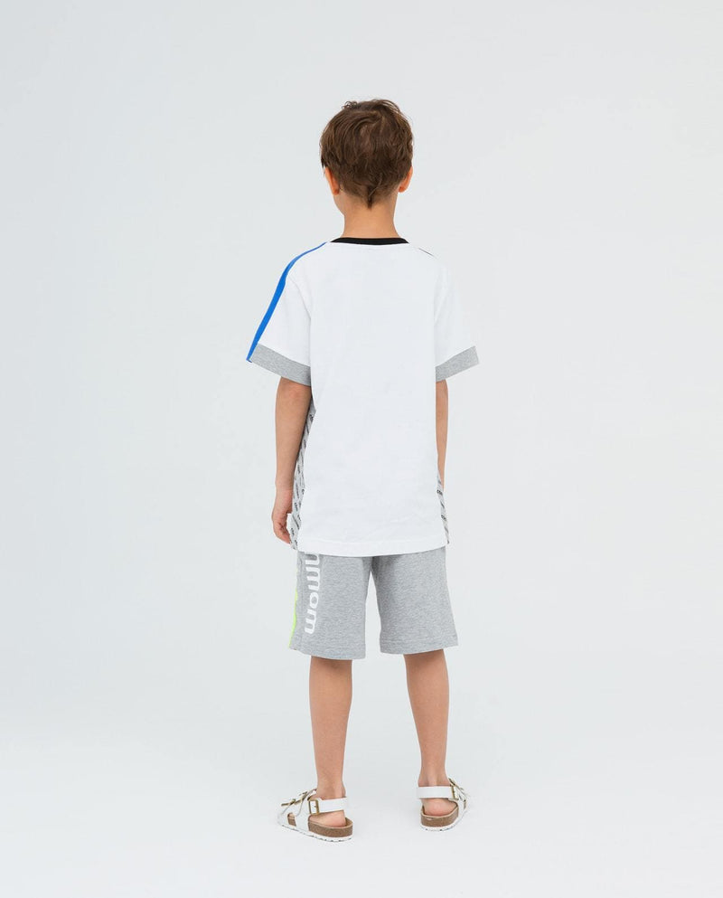 Cooler-Than-Mom Single Line Track Shorts on moomooz