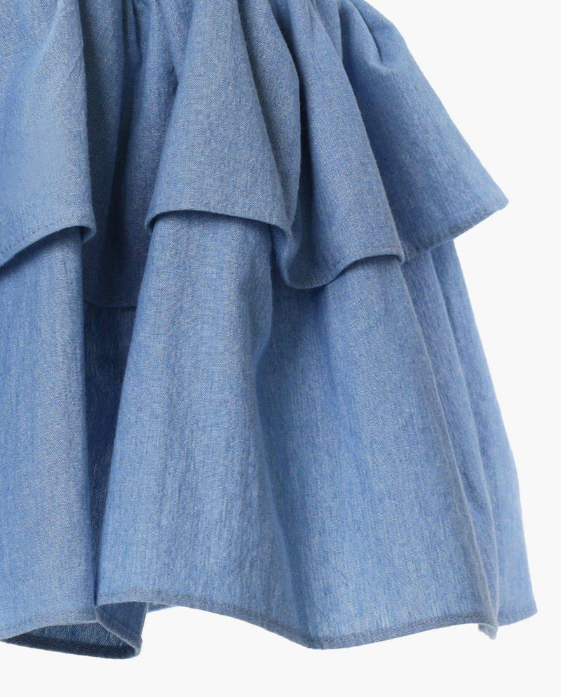 [Out of Stock] Denim Cancan Skirt