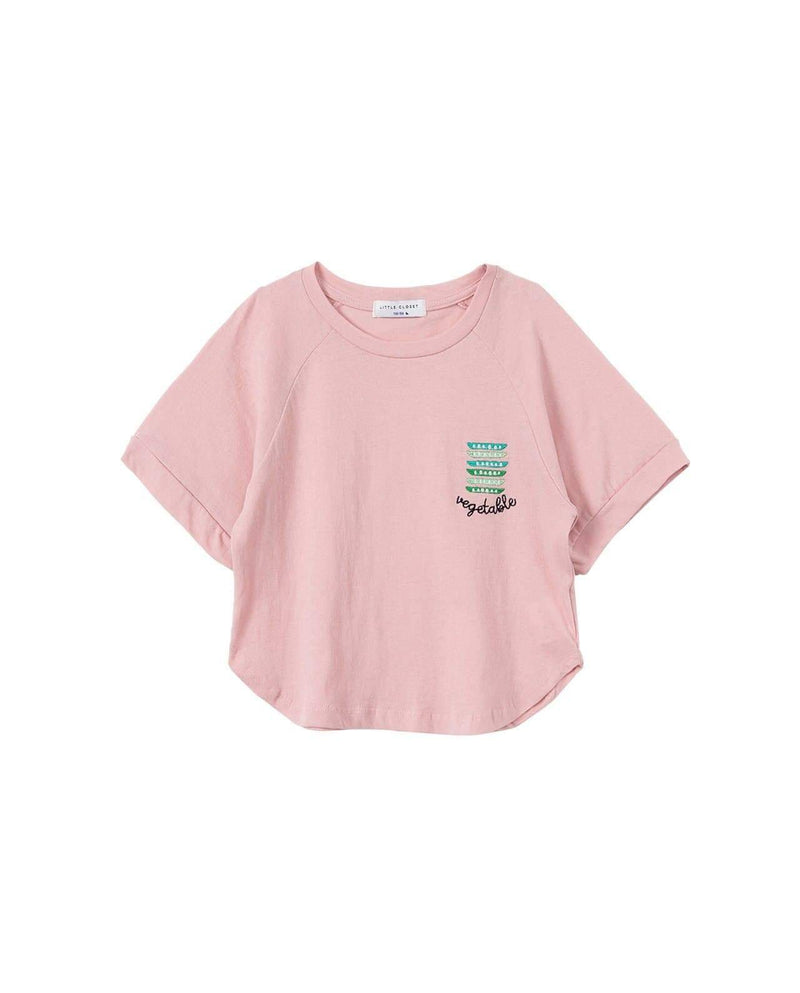 [Out of Stock] Cotton Embroidery T-Shirt