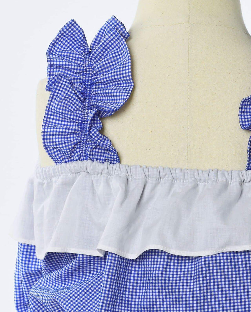 [Out of Stock] [SET] Pastel Plaid Bustier and Skirt Two-Piece