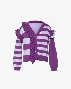 [Out of Stock] Stripes and Ruffles Cardigan