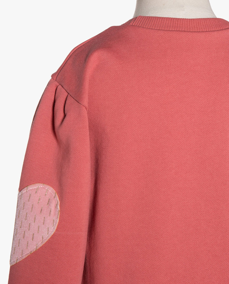 [Out of Stock] Heart Elbow Patch Sweatshirt