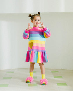 [Out of Stock] Hearts and Stripes Dress