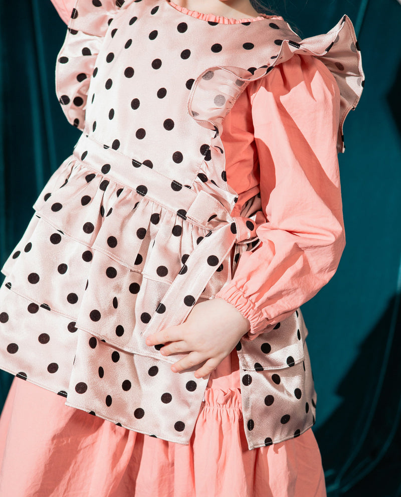 [Out of Stock] Romantic Polka Dot Apron Vest