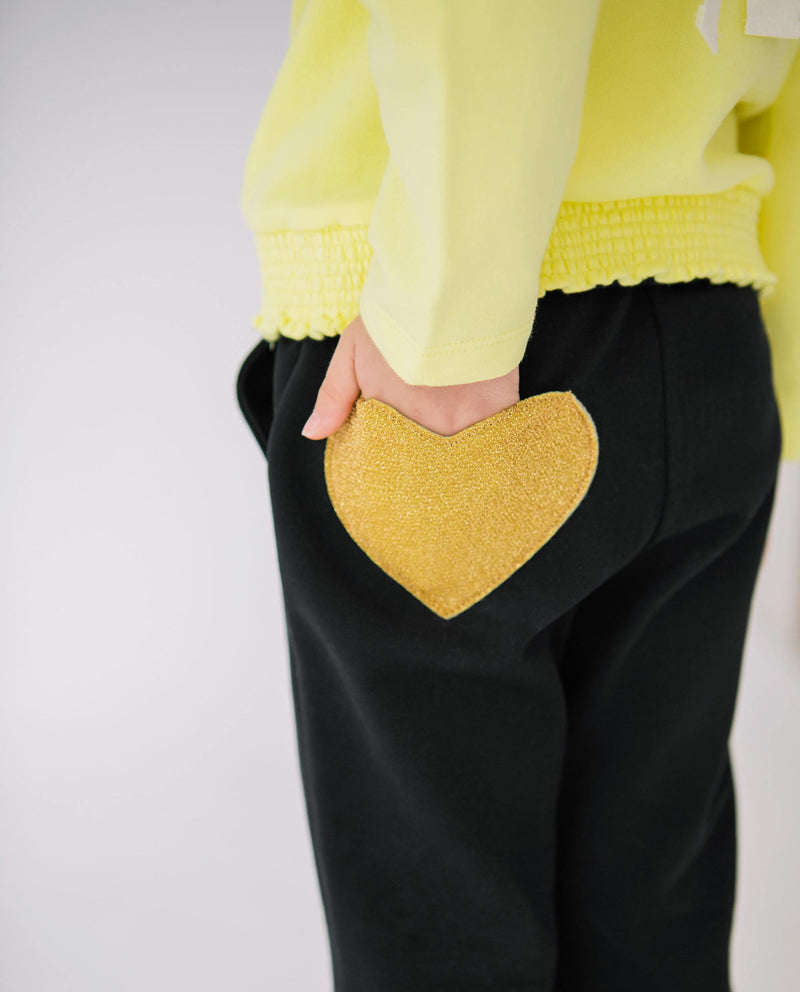 [Out of Stock] Heart Pocket Flared Pants