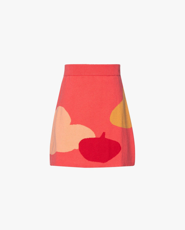 [Out of Stock] Heart and Flower Jacquard Skirt